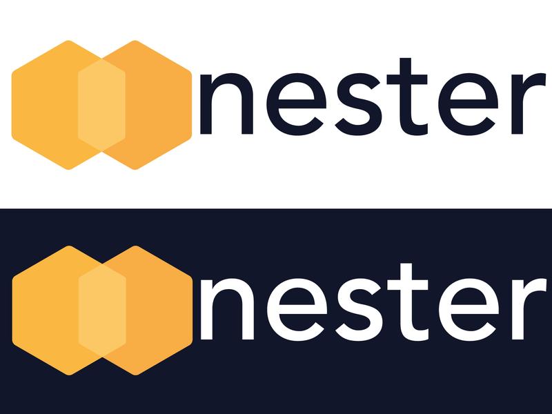 nester logo design logo ui adobe vector bee nest nest bee minimal illustrator flat design branding