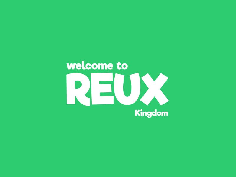 Reux - discord server flat branding minimalist logo illustrator logo icon minimal whitespace white green typo typogaphy design discord