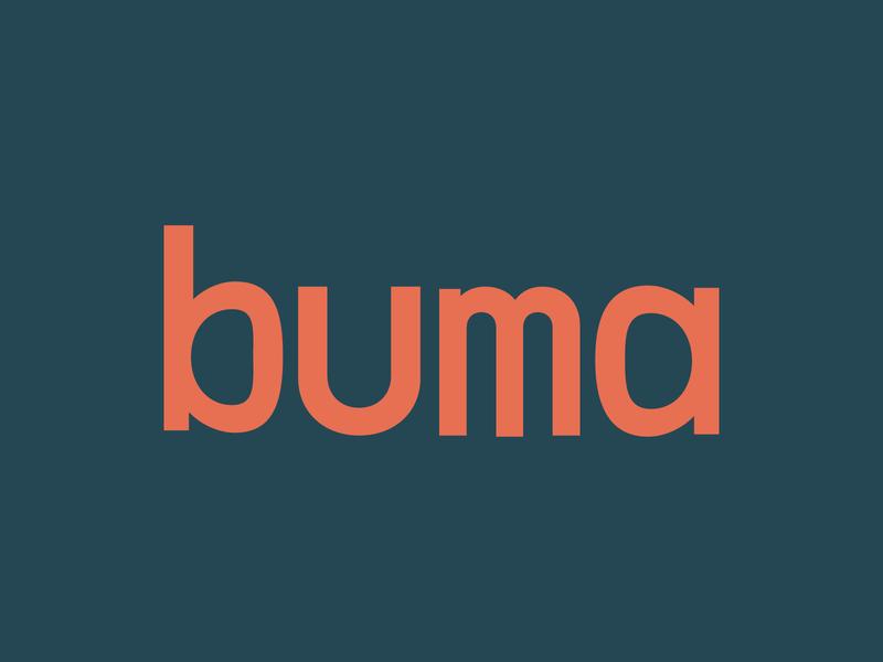 buma logo design restaurant custom type typography art trending red green typography minimalist logo adobe logo illustrator minimal branding flat design