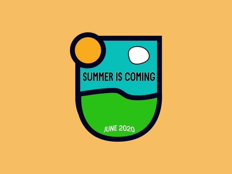 summer Badge camp summer camp minimalist logo logo icon adobe illustrator minimal flat design sun badge nature summer