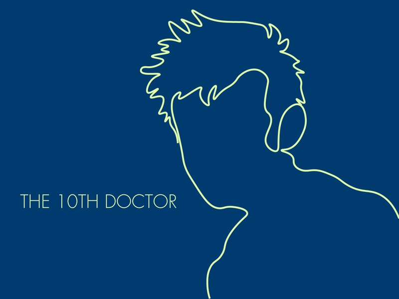 The 10th doctor blue tardis doctor who minimal flat design