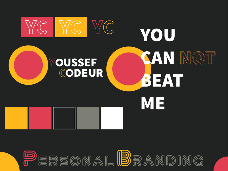 My First Personal Branding ux ui minimal personal illustrator icon vector flat illustration logo design branding