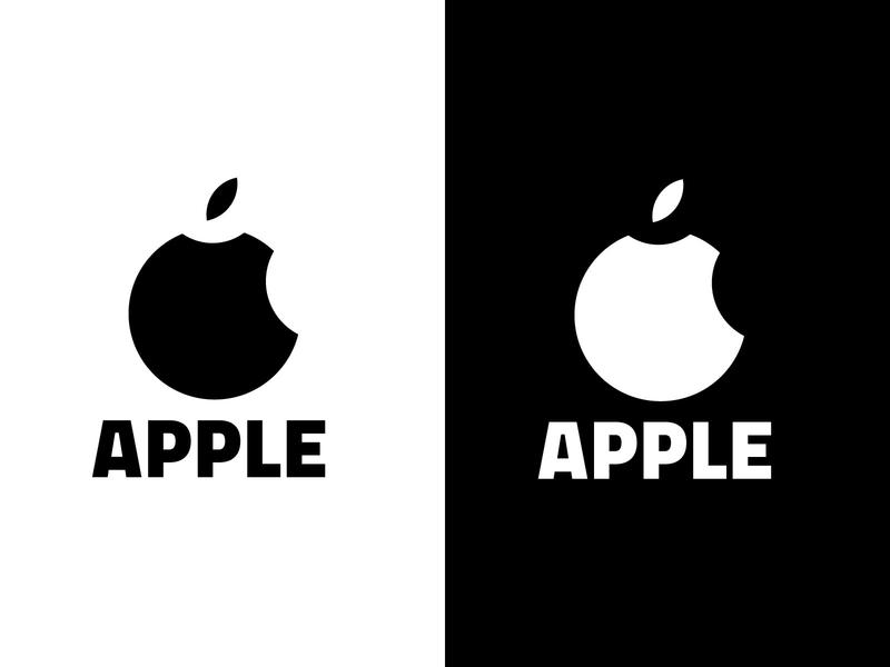 apple logo redisgn famous illustrator flat design steve jobs apple watch phone minimalist minimalism minimalistic minimal minimalist logo black and white blackandwhite white black iphone apple rebranding branding