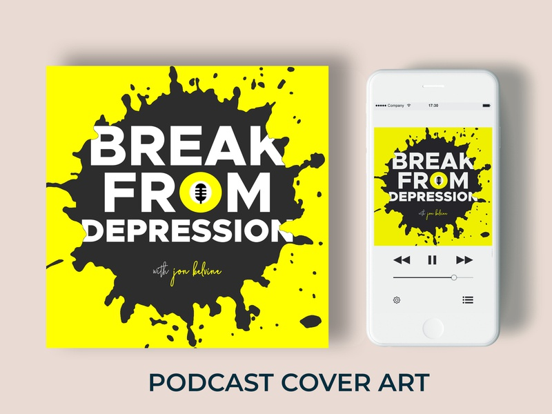 Break From Depression Podcast Cover Art - Album Cover Design food video logo design corporate flyer advertisement business picoftheday girl me tbt beautiful follow podcast graphic design cute happy fashion instagood art love