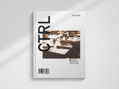 CTRL Magazine 2017 grid type typography freelance graphic design design layout logo magazine