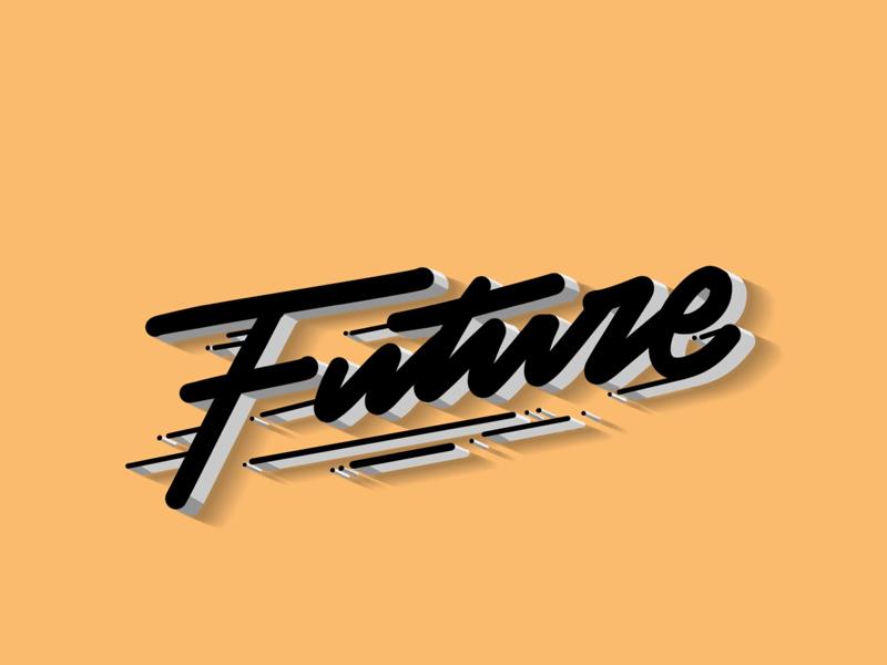 Into The Future typography design logo branding goodtype type typematters