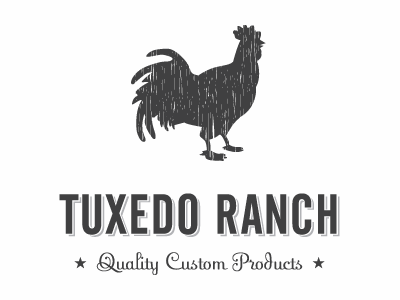 Tuxedo Ranch Rooster Logo rooster condensed