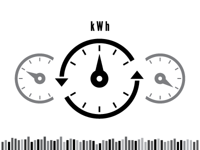 kWh simple bw icons energy usage