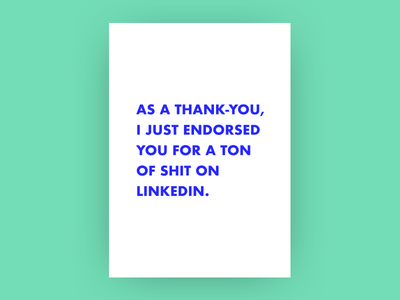 Thanks, friend. thank-you greeting-card linkedin