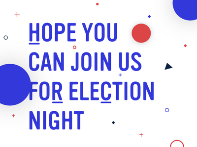 Join Us vote invite party clinton imwithher election