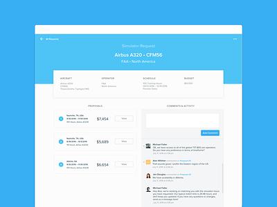 Simhawk Web App proposal profile comment interface ui web