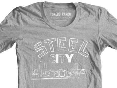 The Steel City steel city hand-drawn shirt screen-print
