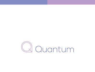 Quantum minimal typography logo Design