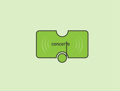 Concerto App Icon Logo Design design art flat app logodesign logo design icon minimal branding logo