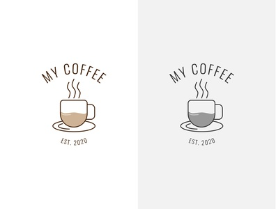 Coffee Shop Logo Design best logo awesome logo flat logo branding typography design logodesign logo design coffee shop coffee cup coffee
