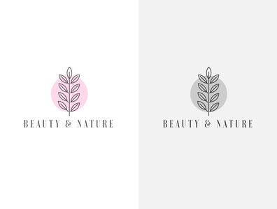 Beauty & Nature Organic Logo Design awesome logo best logo flat logodesign logo design minimal branding logo tree logo leaf logo nature logo beauty logo