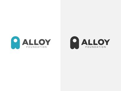 Alloy Foundation Monogram Logo Design flat best logo branding typography icon logo design logodesign minimal a logo lettermark logo concept logotype