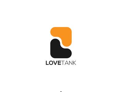 Love Tank Logo Design modern logo icon minimalist logo typography flat logodesign logo design minimal branding love logo logotype logo