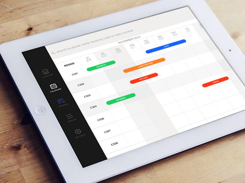 iPad Calendar ios booking ipad calendar ui