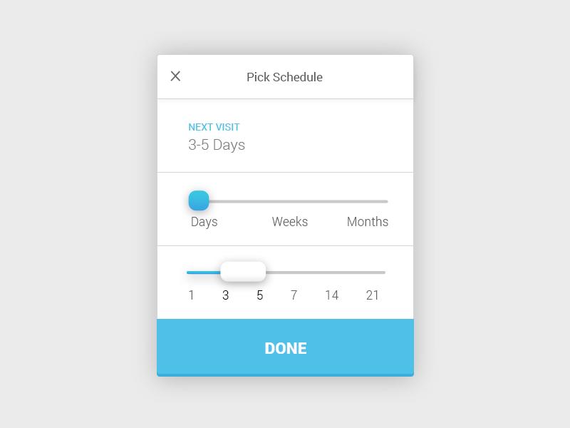 iOS Schedule Picker ux ui schedule picker ios