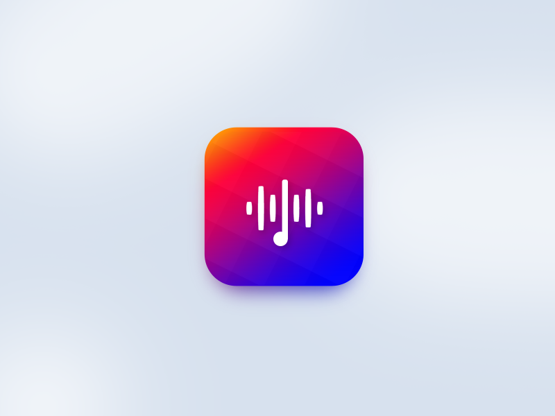 Treble  frequency sound music designer illustration ux ui icon app ios