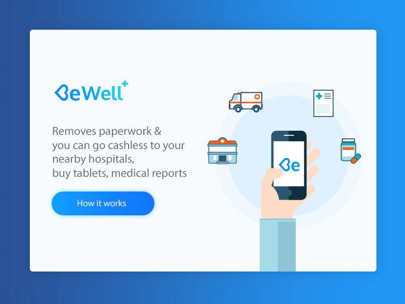Walkthrough popup modal icons flat clean material android ios app branding illustration health