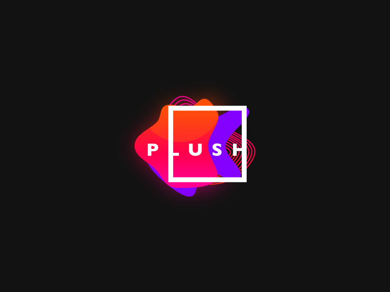 Plush exhibition branding emblem mark icon colorful graphic latest trendy fabric fashion logo