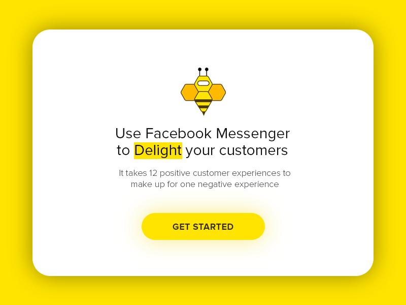 Botbee minimal material illustration messaging messenger popup ux ui website modal bee bot