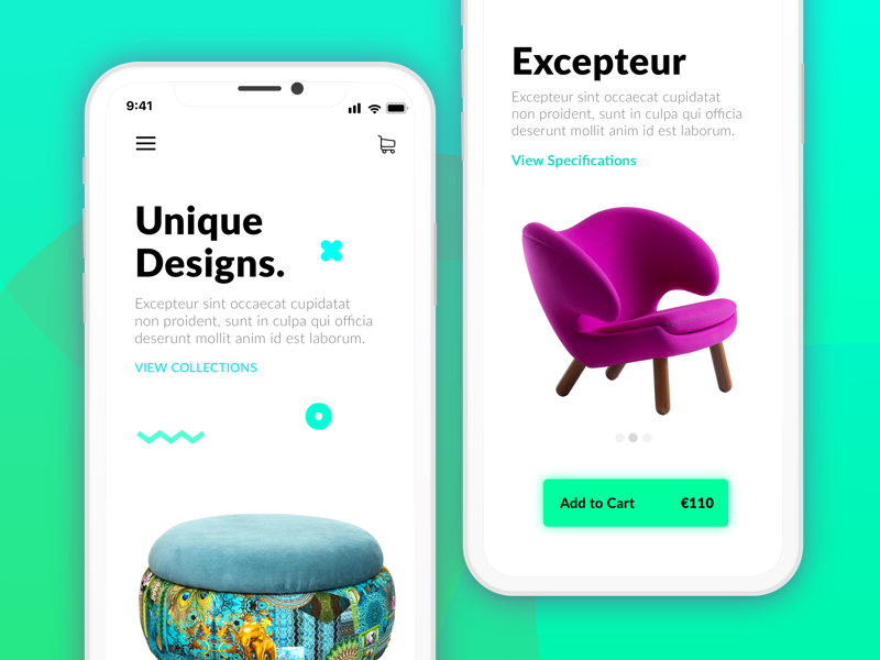 iOS Mobile app material uitrends freelance designer iphonex ux ui chair mobileapp ios furniture