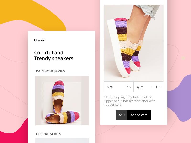 e-commerce app ux ui uiux designer freelance trendy material ios mobile app ecommerce sneakers shoes