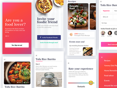 Recipe App Screens