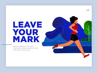 Run health exercise athlete girl illustrator illustrations shoe fitness running typography web design logo branding designer vector ui ux freelance illustration