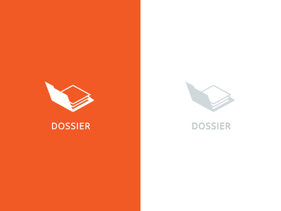 Dossier Logo dossier logo orange papers folder