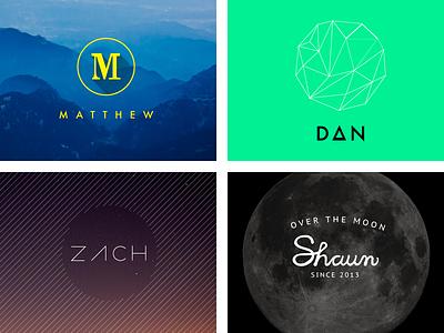 Team Member Identities branding identity logos team personal identity