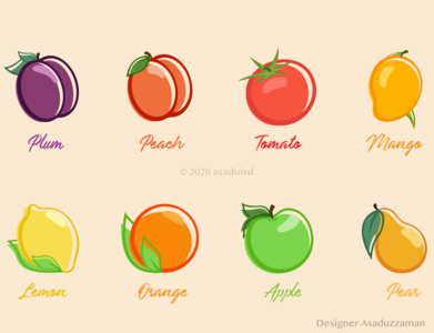10 Fruits Icon Pack