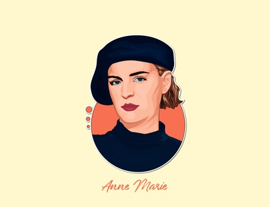 Vector Portrait Anne Marie