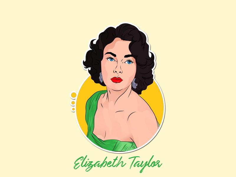 Classic vector Elizabeth Taylor