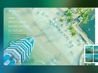 Landing page for Cruise booking