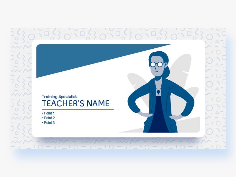 Professor modern blue glasses teacher ui professor german graphic design illustration flat vector