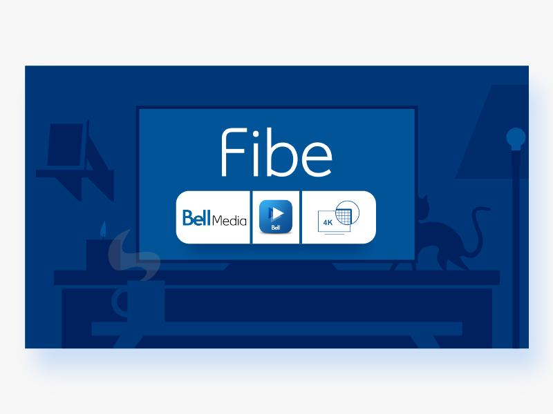 Fibe TV illustrator clean minimal modern blue technology simple graphic design illustration flat vector