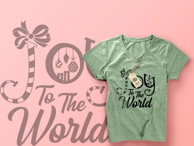 Joy To Th World - T-shirt Design