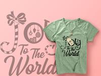 Joy To Th World - T-shirt Design
