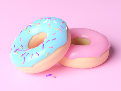 3D Donut Render design cinema4d blender render donut 3d