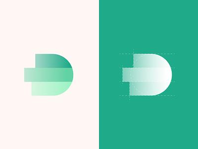 D Logo lettermark logodesign logo design dynamic lists charts logotype logo letter