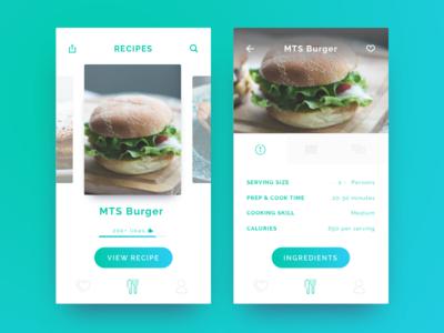 Recipe App app recipe mobile ux ui daily