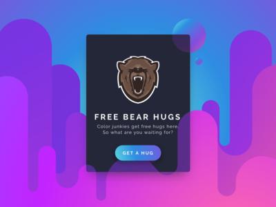 Info Card dark hugs bear card info ux ui daily
