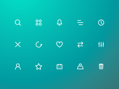 Icon Set set icon ux ui daily