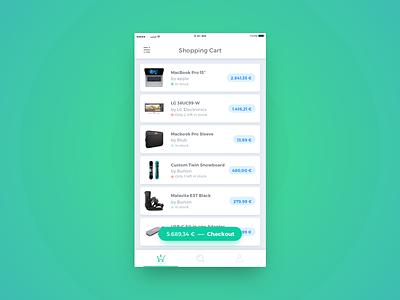 Shopping Cart button tabbar mobile app shop cart shopping list icon ux ui daily