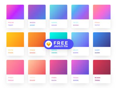 Sick Gradients [Freebie] gradient ios android freebie free picker colour color gradients sketch ux ui