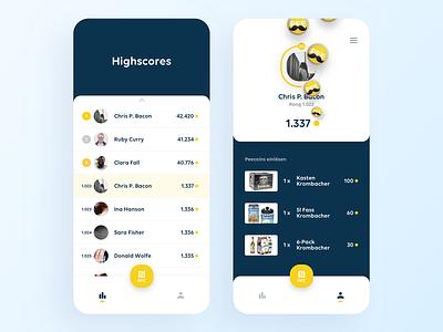 iOS App Concept profile price prices highscore iphone ios graphics design app mobile ux ui